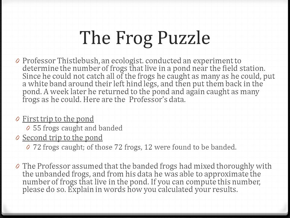 The Frog Puzzle