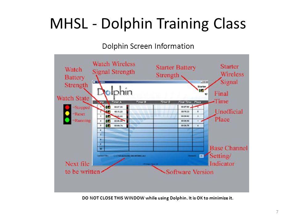 MHSL - Dolphin Training Class