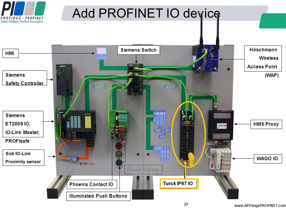 Add PROFINET IO device Siemens Switch Hirschmann Wireless Access Point