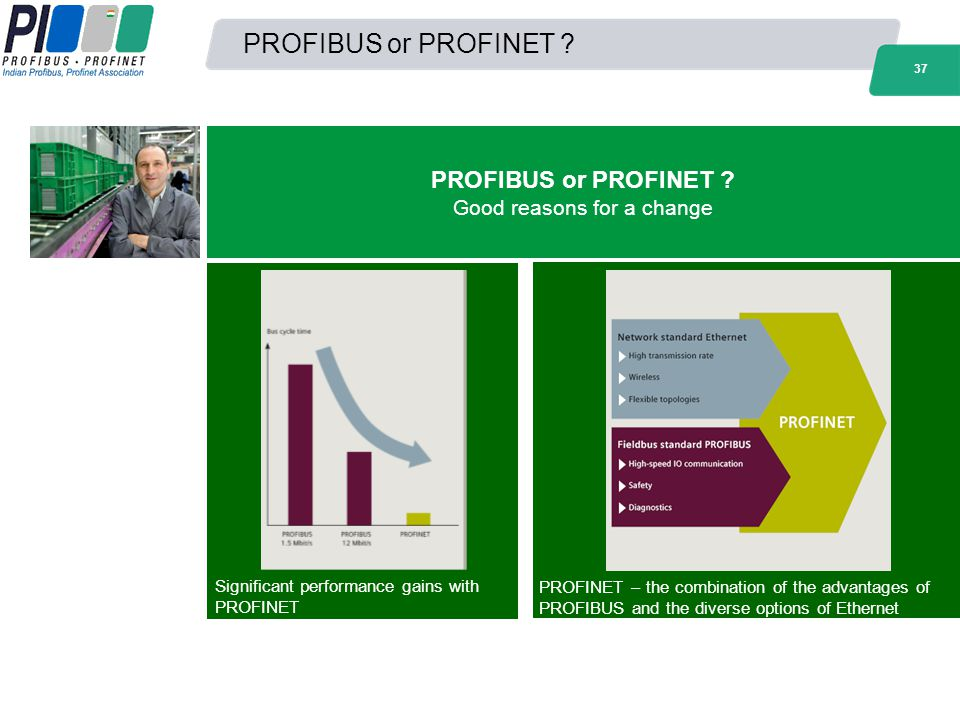 PROFIBUS or PROFINET Good reasons for a change