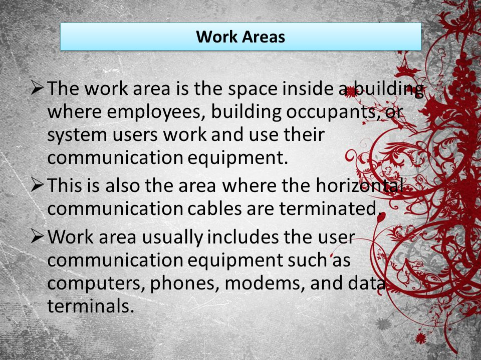 Work Areas