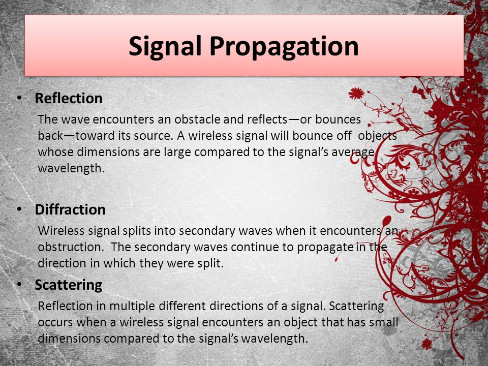 Signal Propagation Reflection Diffraction Scattering