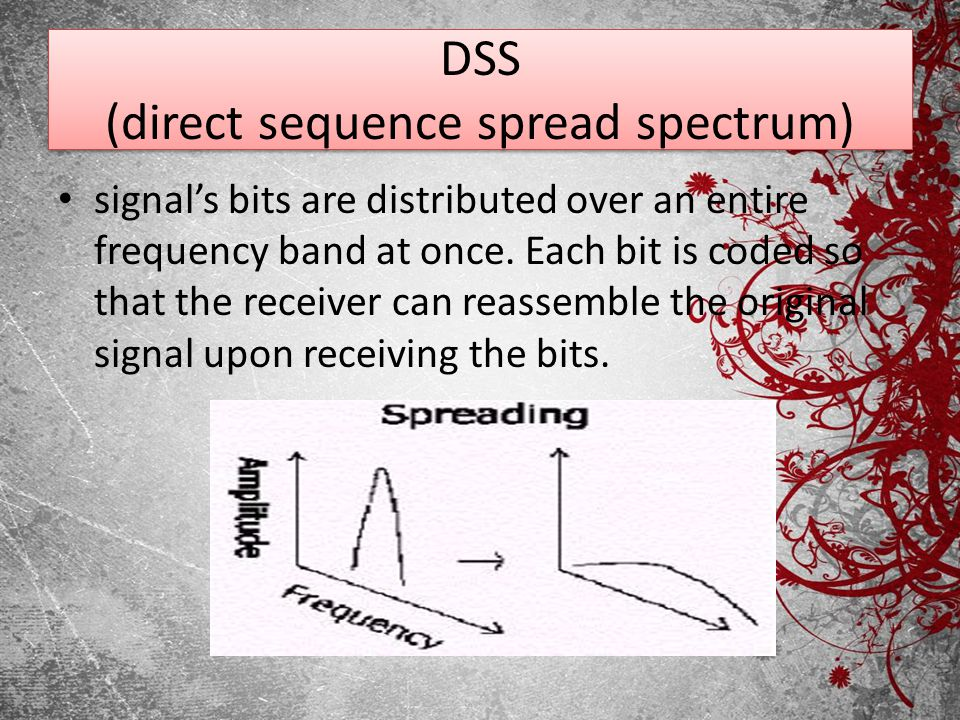 DSS (direct sequence spread spectrum)