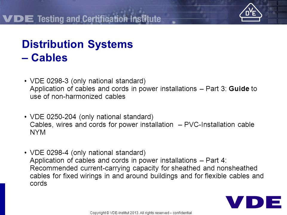 Distribution Systems – Cables