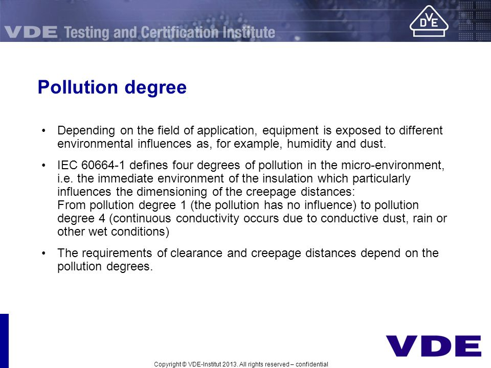 Pollution degree
