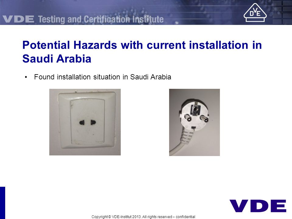 Potential Hazards with current installation in Saudi Arabia
