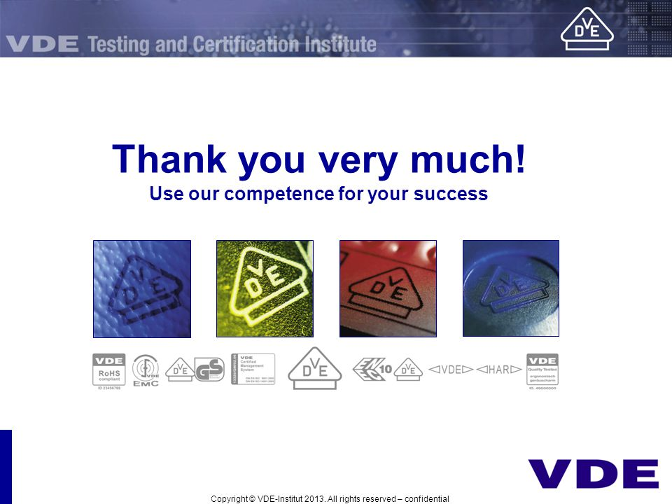 Thank you very much! Use our competence for your success