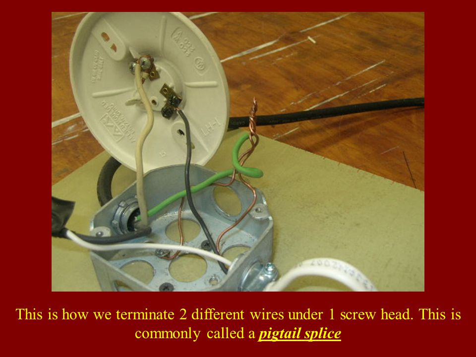 This is how we terminate 2 different wires under 1 screw head