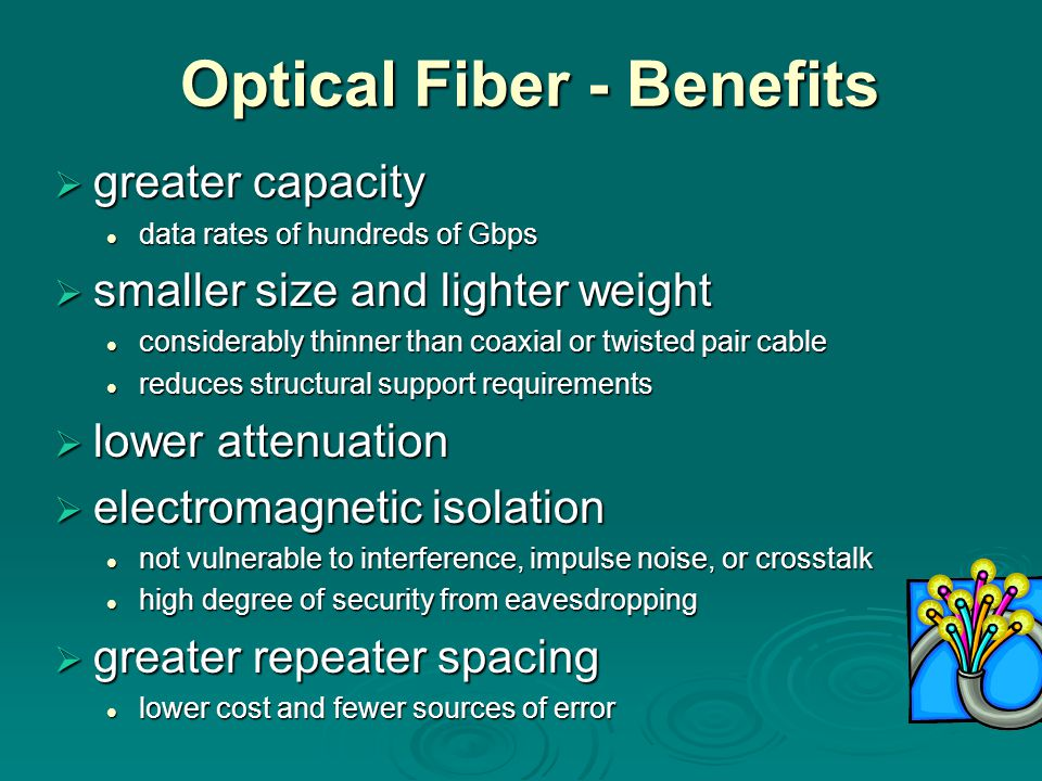 Optical Fiber - Benefits