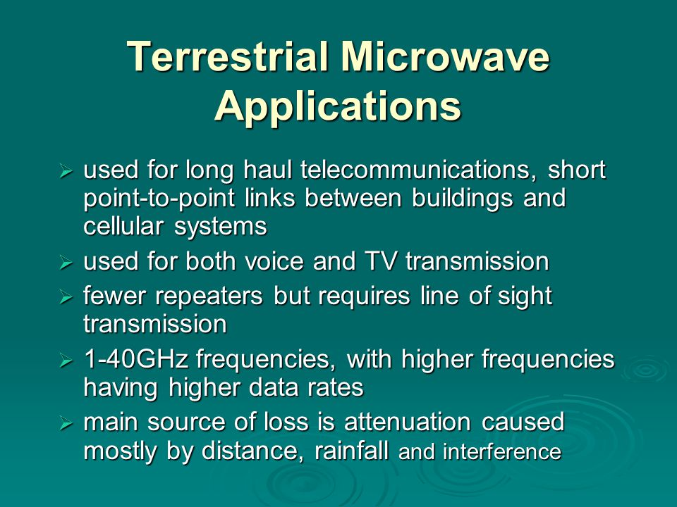Terrestrial Microwave Applications