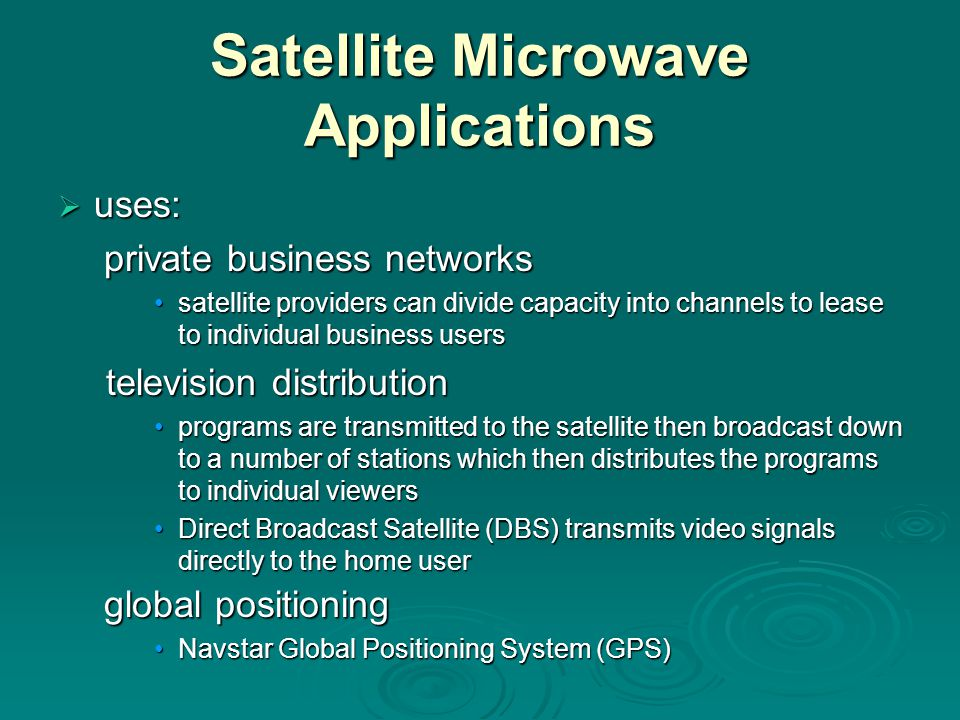 Satellite Microwave Applications