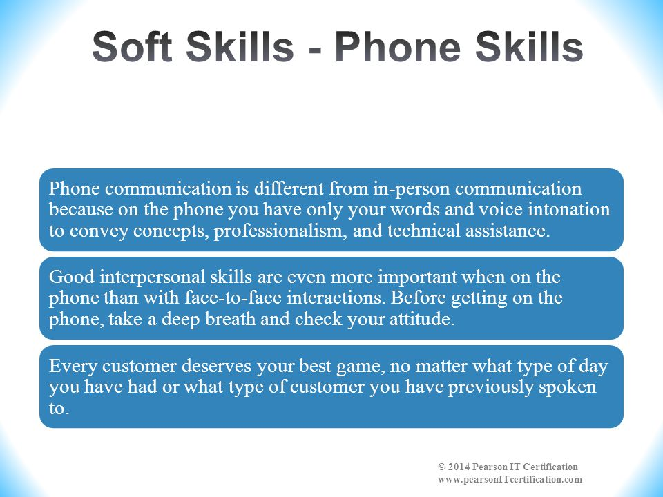 Soft Skills - Phone Skills