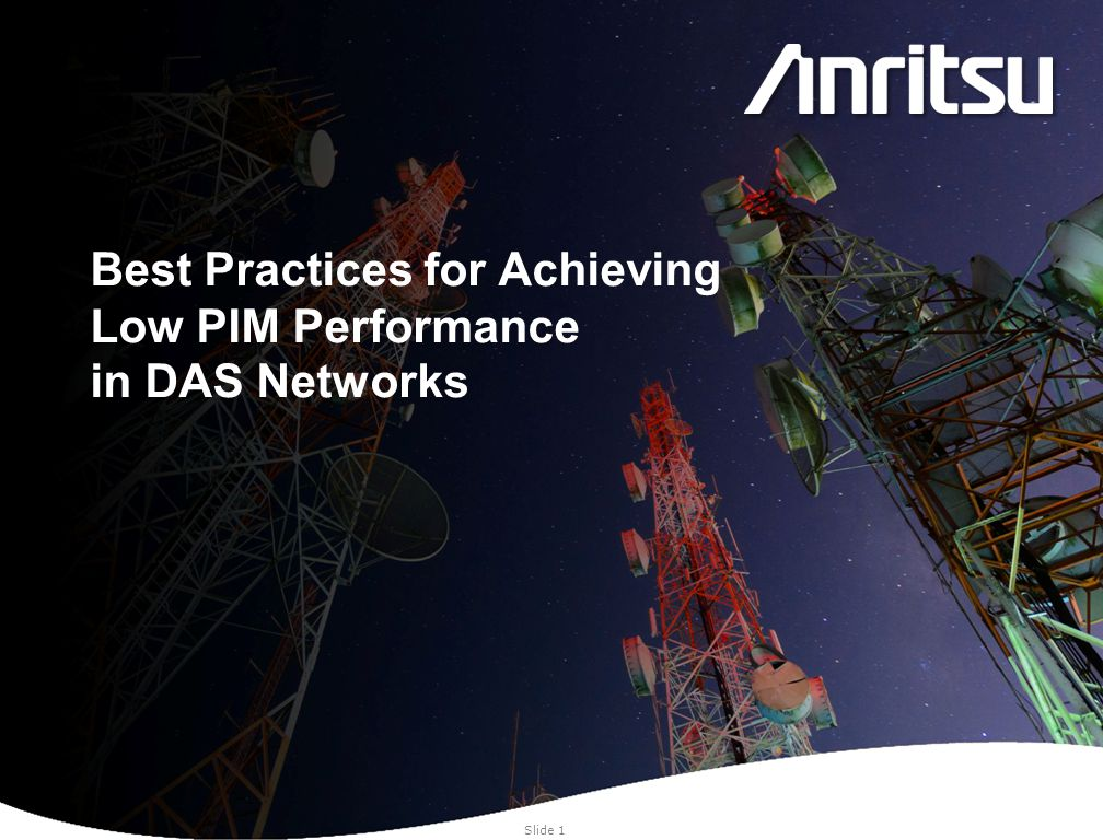 Best Practices for Achieving Low PIM Performance in DAS Networks