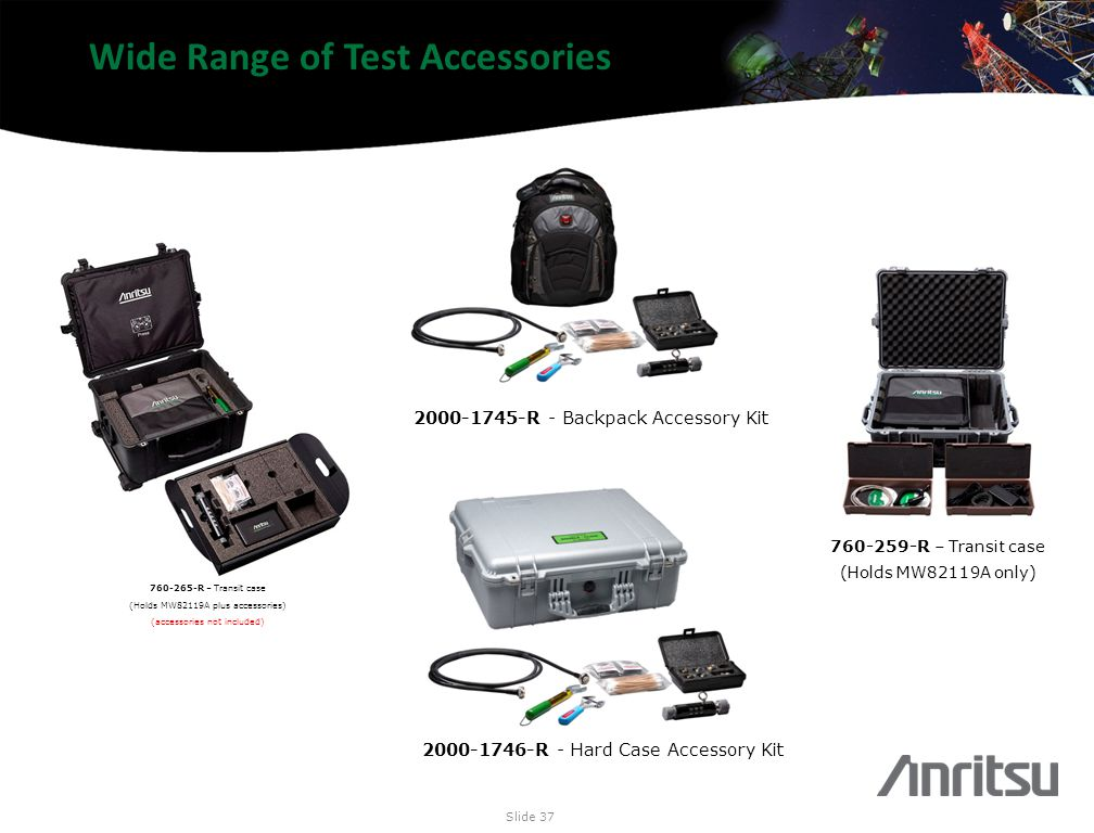 Wide Range of Test Accessories