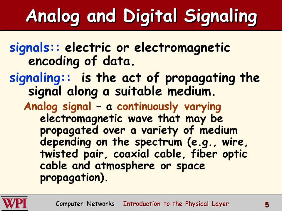 Analog and Digital Signaling