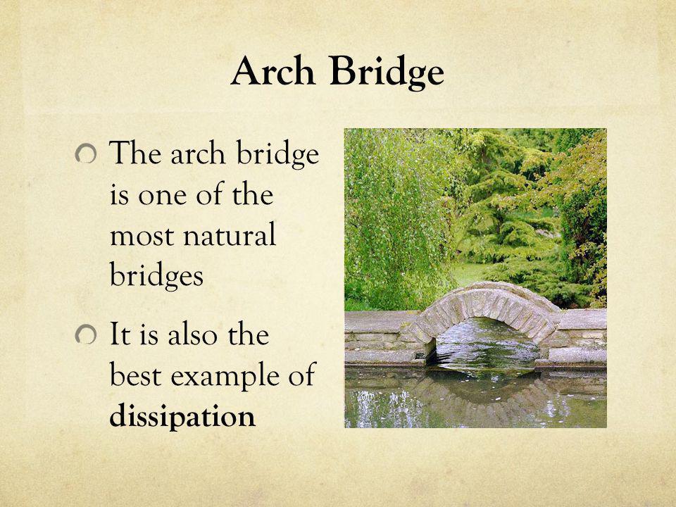 Arch Bridge The arch bridge is one of the most natural bridges
