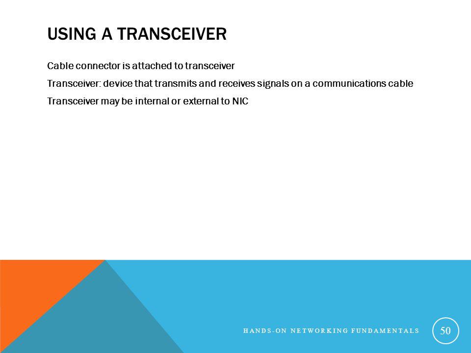 Using a Transceiver