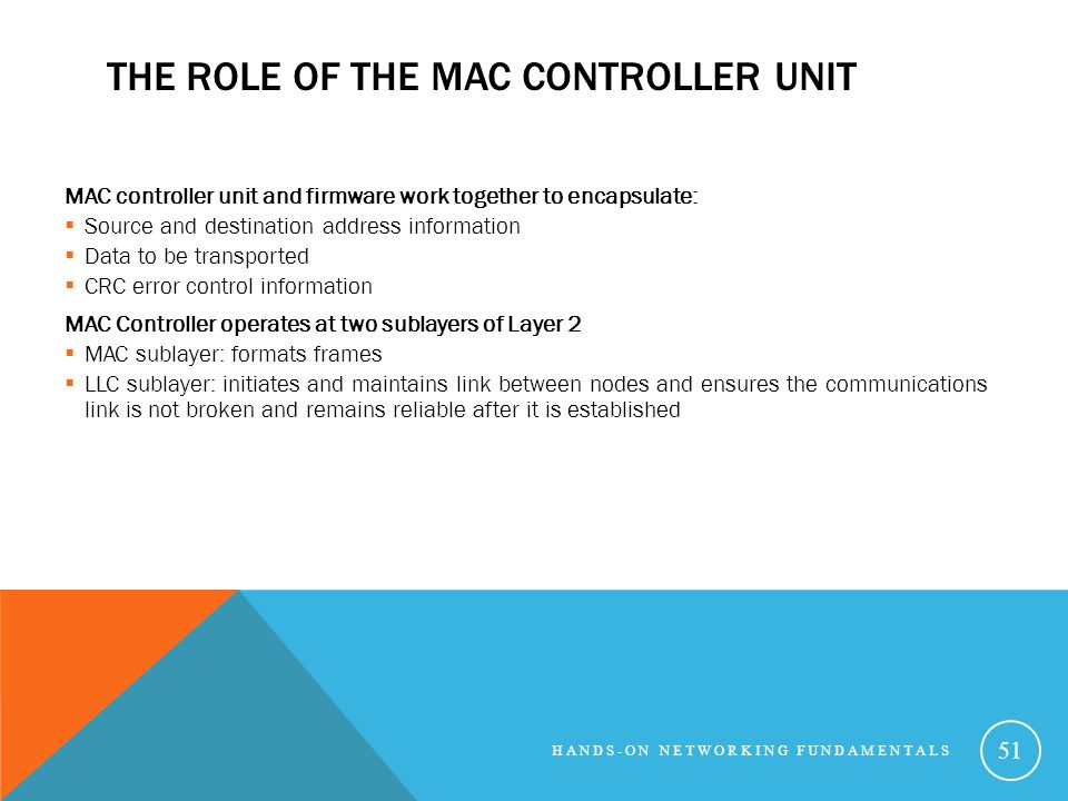 The Role of the MAC Controller Unit