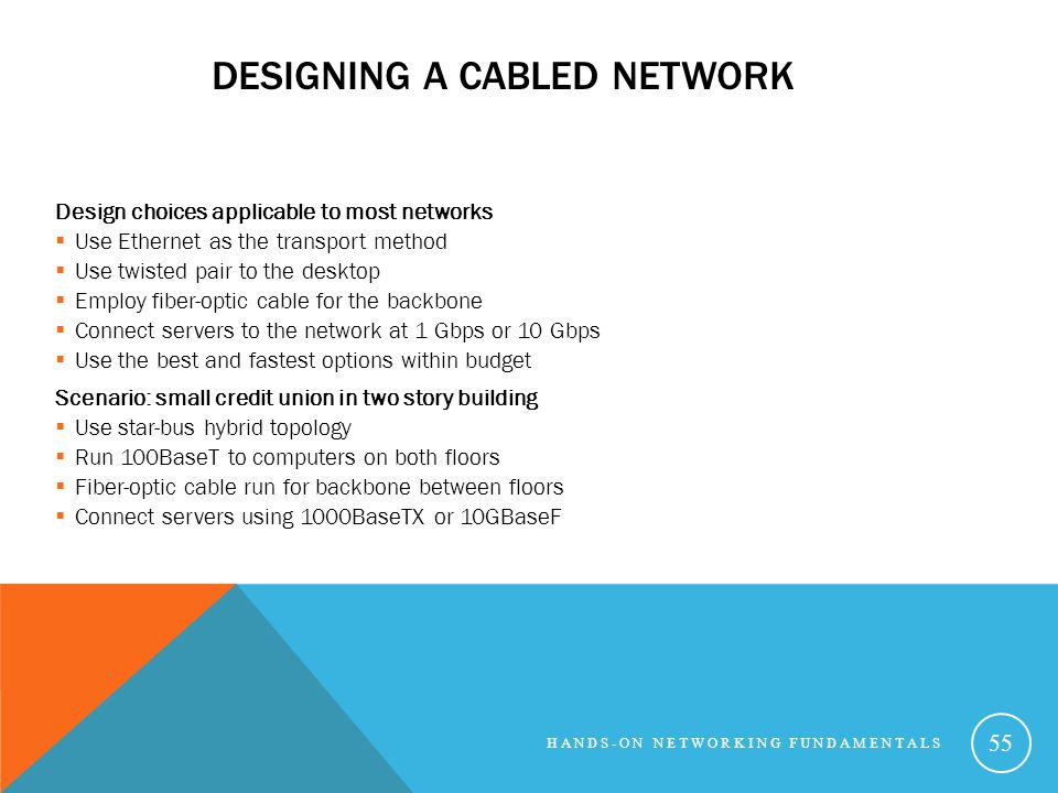 Designing a Cabled Network