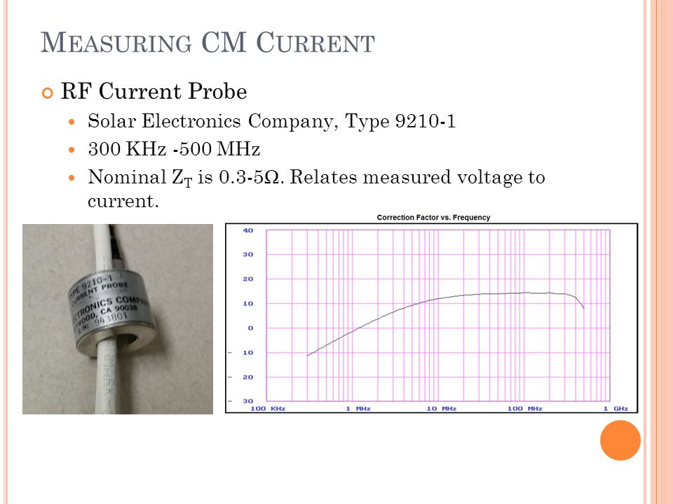 Measuring CM Current RF Current Probe