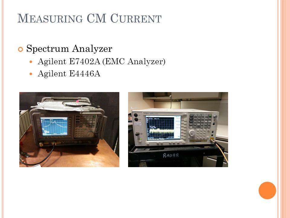 Measuring CM Current Spectrum Analyzer Agilent E7402A (EMC Analyzer)