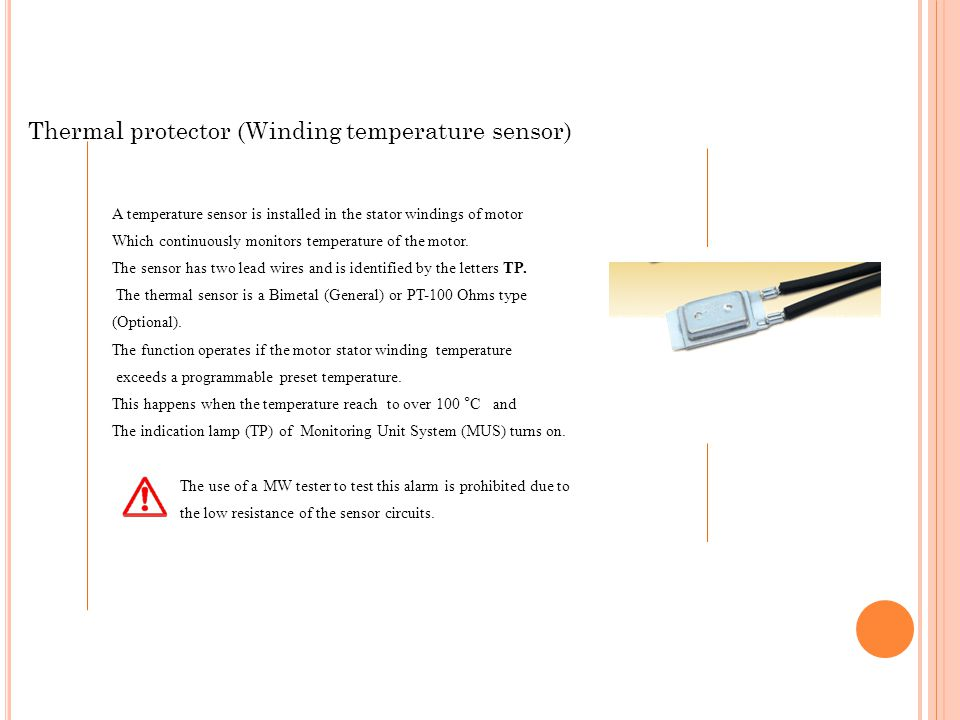 Thermal protector (Winding temperature sensor)