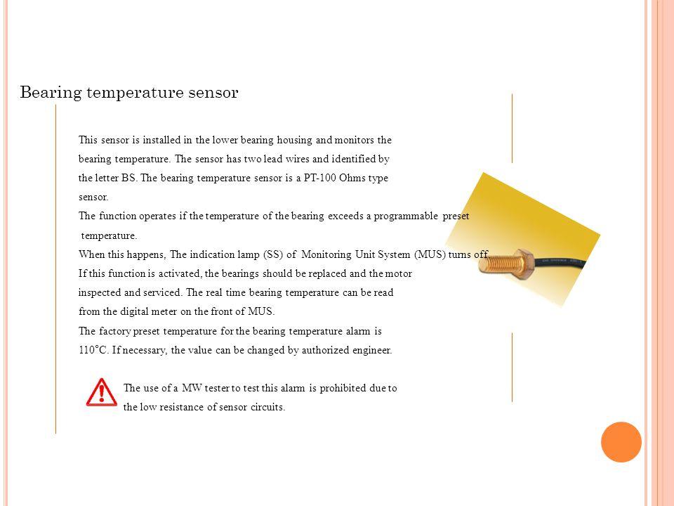 Bearing temperature sensor
