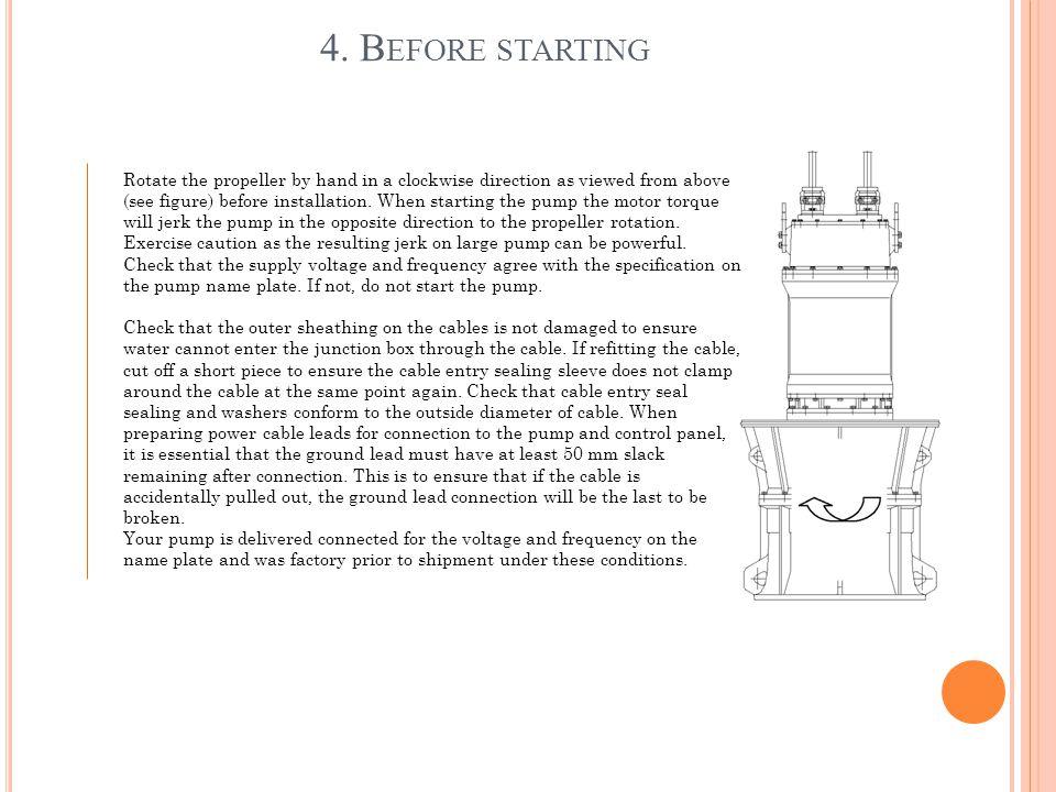 4. Before starting
