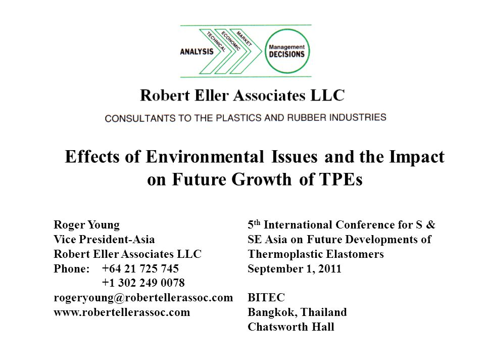 Effects of Environmental Issues and the Impact on Future Growth of TPEs