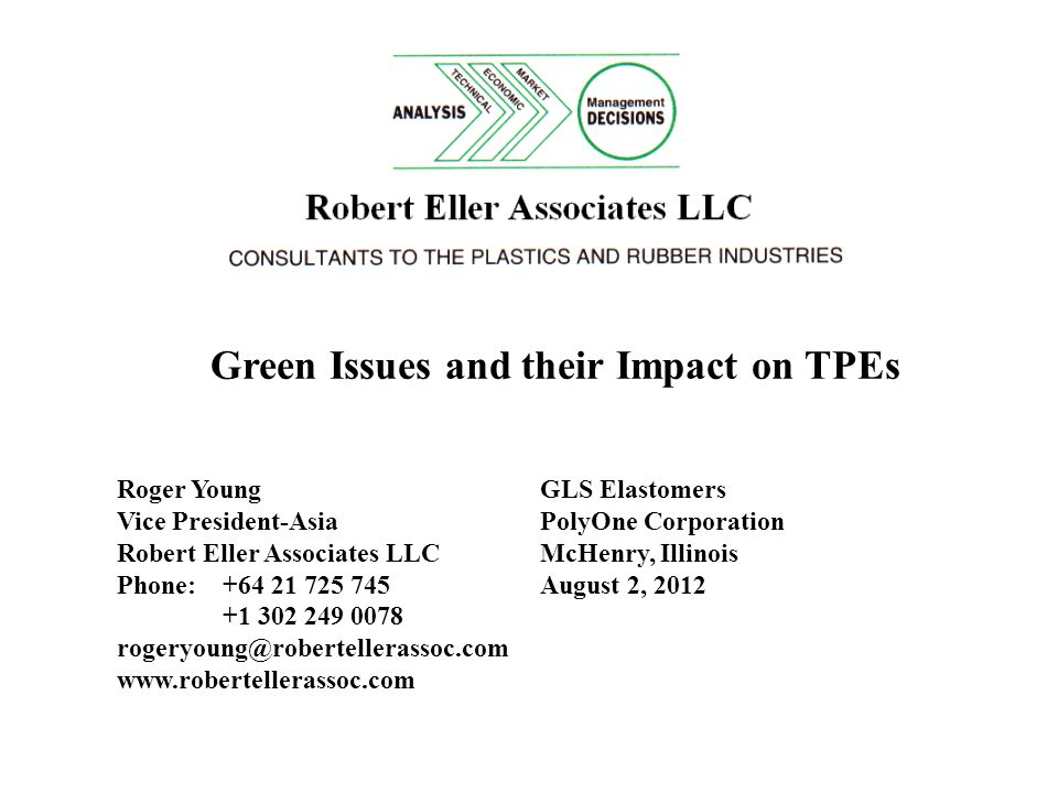 Green Issues and their Impact on TPEs