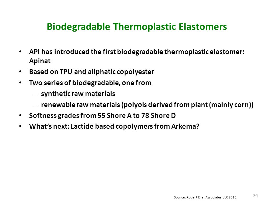 Biodegradable Thermoplastic Elastomers