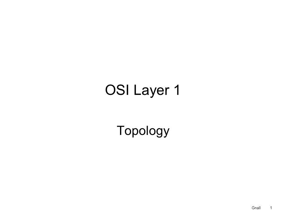 OSI Layer 1 Topology