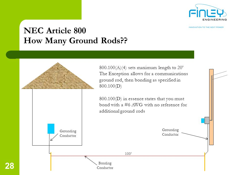 NEC Article 800 How Many Ground Rods