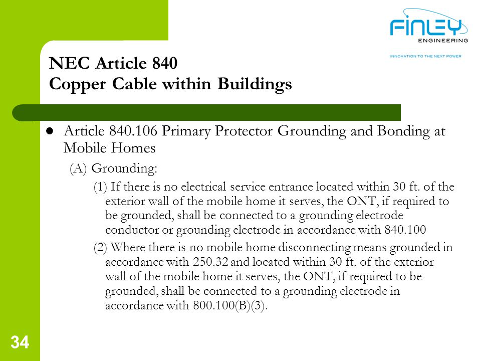 NEC Article 840 Copper Cable within Buildings