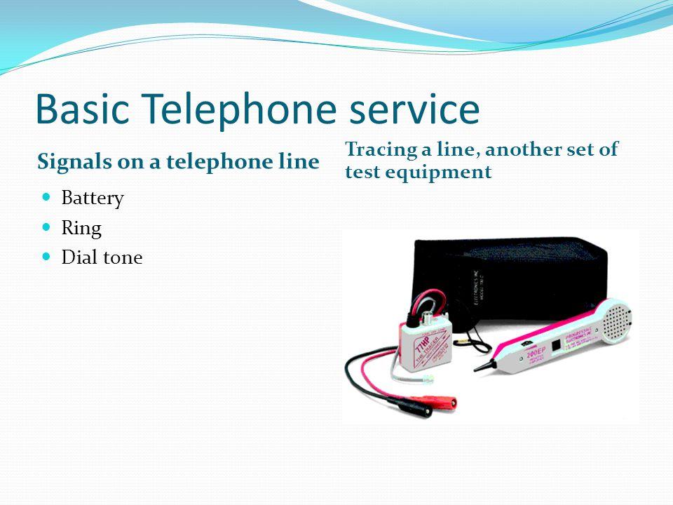 Basic Telephone service
