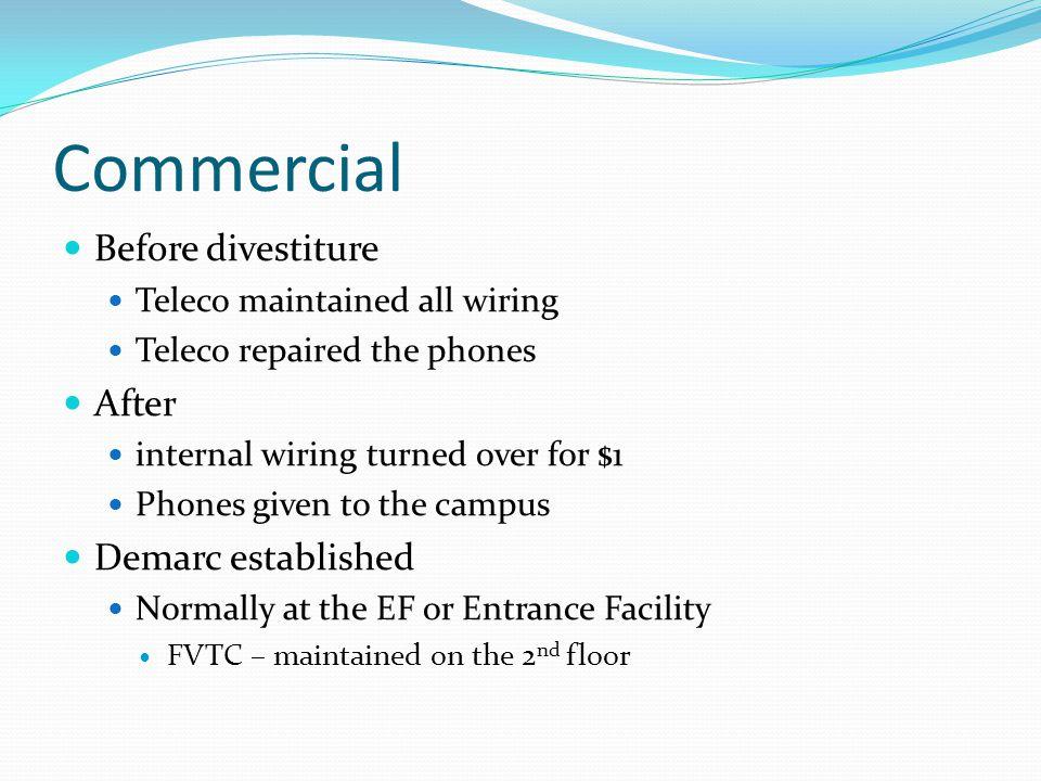 Commercial Before divestiture After Demarc established