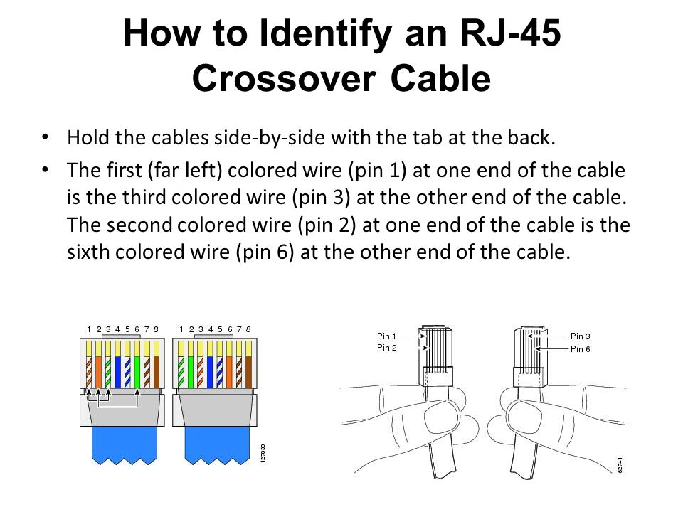 How to Identify an RJ-45 Crossover Cable