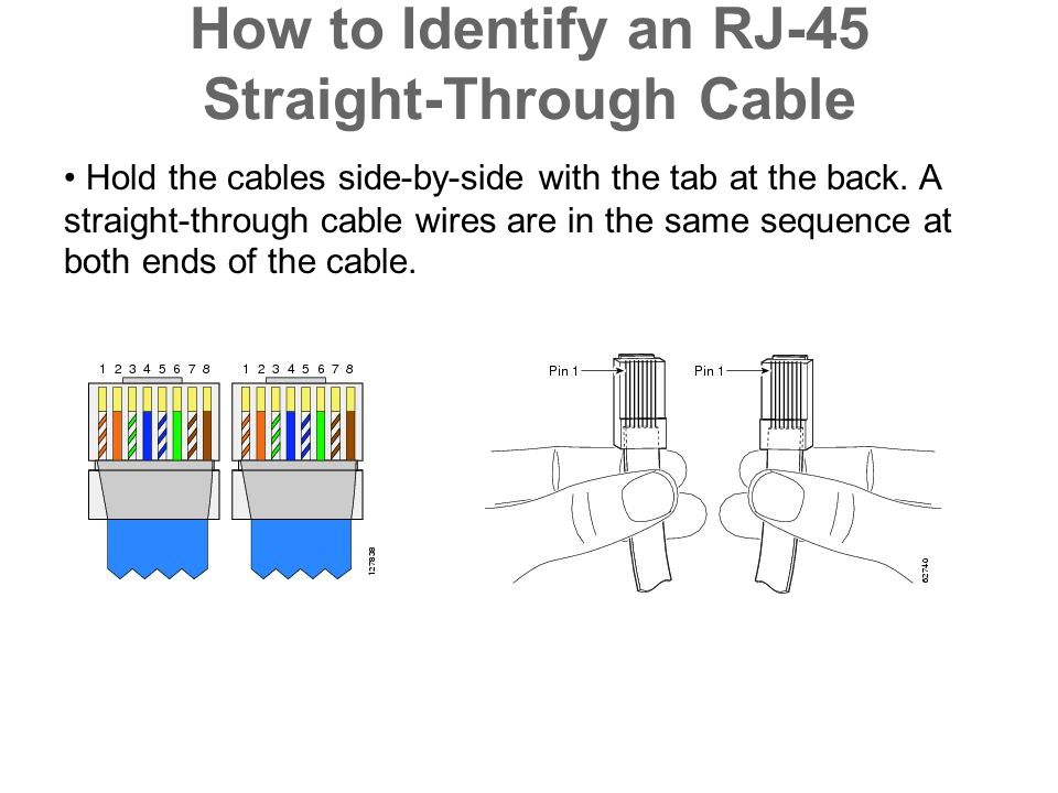 How to Identify an RJ-45 Straight-Through Cable