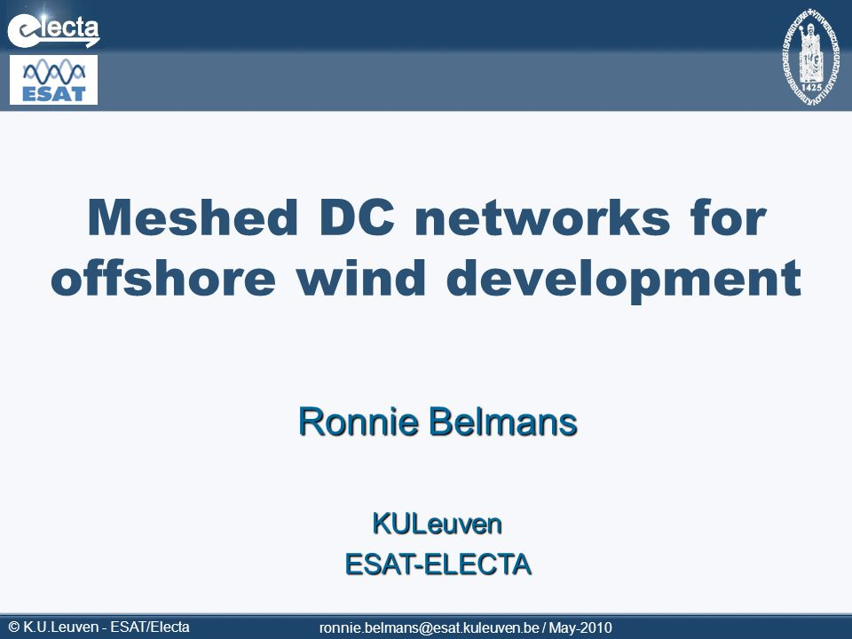 Meshed DC networks for offshore wind development