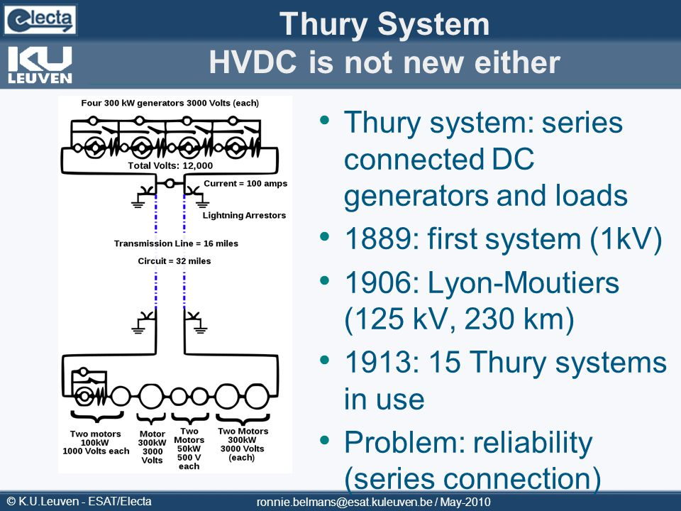 Thury System HVDC is not new either