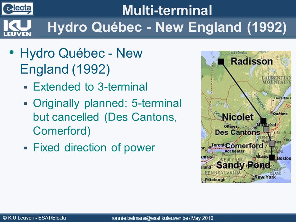 Multi-terminal Hydro Québec - New England (1992)