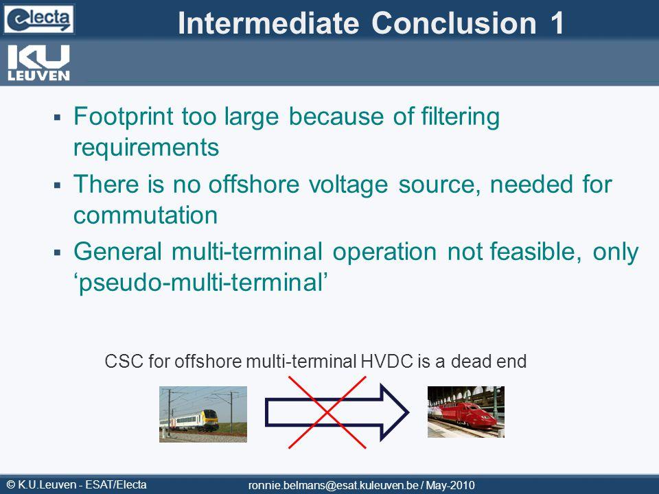 Intermediate Conclusion 1