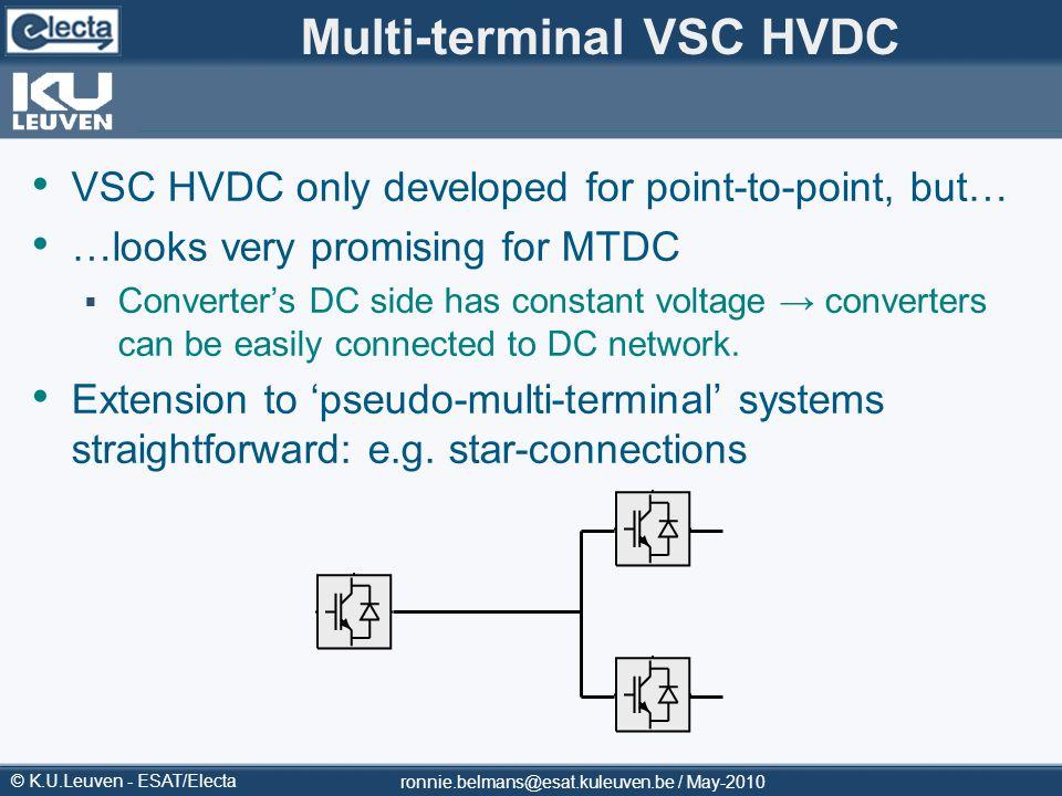 Multi-terminal VSC HVDC