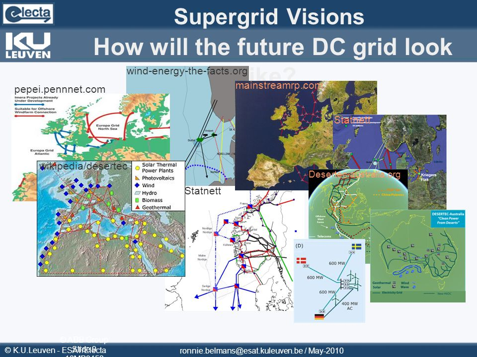 Supergrid Visions How will the future DC grid look like