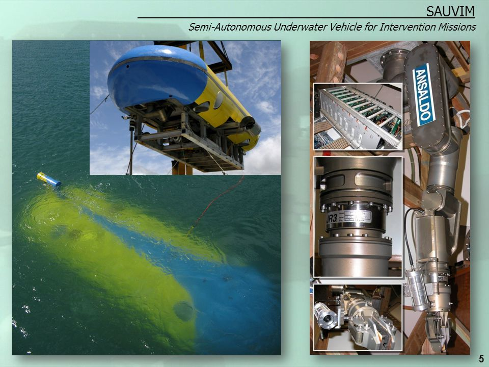 Semi-Autonomous Underwater Vehicle for Intervention Missions