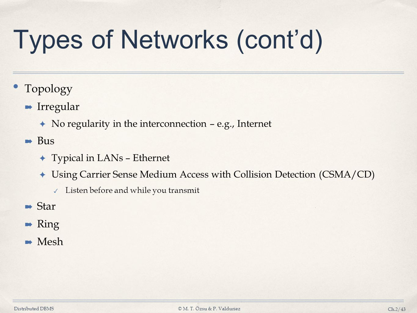 Types of Networks (cont'd)