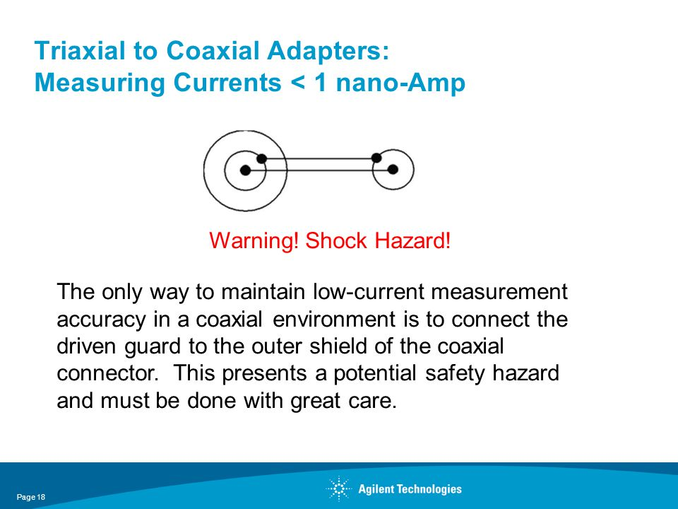 Triaxial to Coaxial Adapters: Measuring Currents < 1 nano-Amp