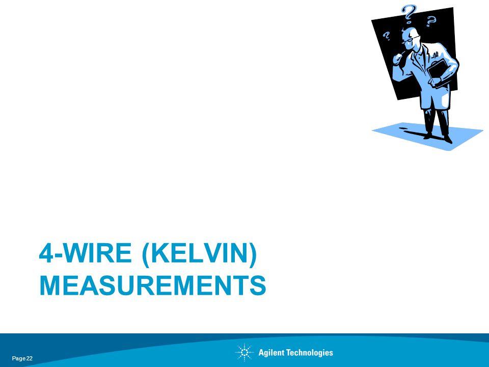 4-Wire (Kelvin) Measurements