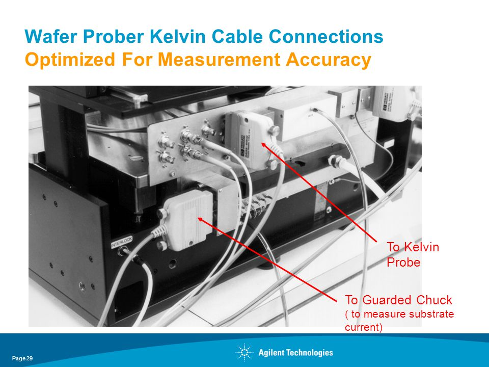 Wafer Prober Kelvin Cable Connections Optimized For Measurement Accuracy