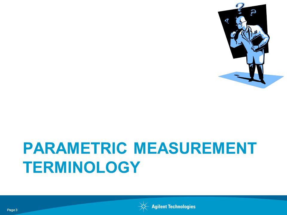 Parametric measurement terminology
